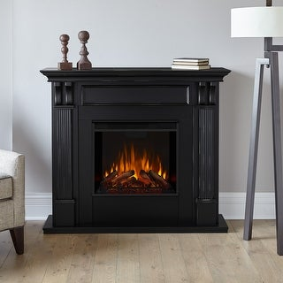 "Ashley Blackwash Electric Fireplace - 48.03"" L x 13.78"" W x 41.25"" H"