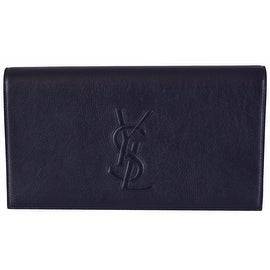 Yves Saint Laurent 203855 Large Black Patent Leather Clutch ...