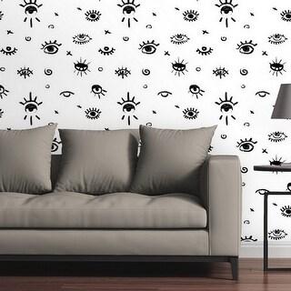 Circle Art Group Removable Wallpaper Tile - Evil Eye