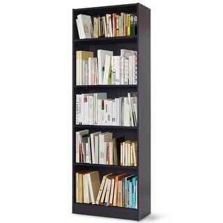 Costway Modern 5 Tier Shelf Bookcase Storage Media Storage