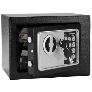 Mini Wall-in Style Electronic Keyboard Box Safe Case - Black - black