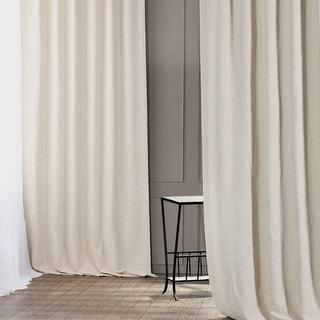 Exclusive Fabrics Oat Cream Bellino Single Panel Blackout Curtain