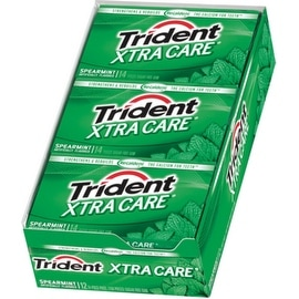Trident XTRA Care Gum Spearmint 12 pack (14 ct per pack)