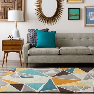 Hand-Tufted Barton Contemporary Abstract Area Rug