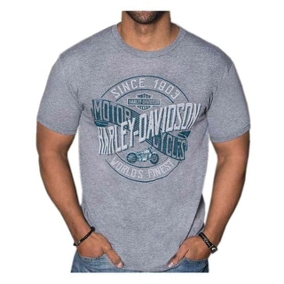 Harley-Davidson Men's Motorclub Short Sleeve Tri-Blend T-Shirt - Heather Gray