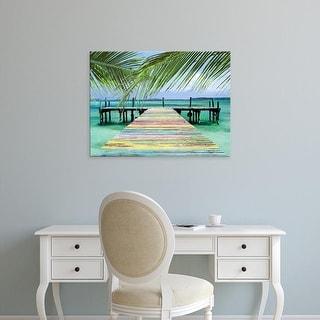 Easy Art Prints Steve Vaughn's 'Rainbow Dock' Premium Canvas Art