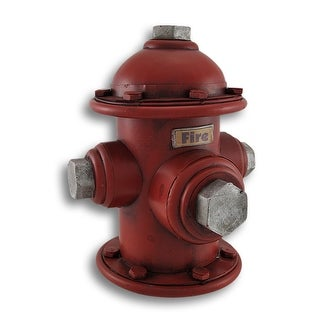 Vintage Look Metal Fire Hydrant Coin Bank Money - 8 X 8.25 X 7.25 inches
