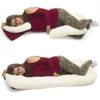 Costway C Shape Total Body Pillow Pregnancy Maternity Comfort Support Cushion Sleep - Beige