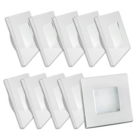 LED 12Volt 2.83inch Square Recessed Ceiling Light RV Camper Trailer Boat Marine Indoor Roof Lamp Warm White (Pack of 10)