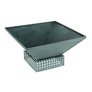 Grey Contemporary Square Metal Plant Container - 5 X 9 X 9 inches