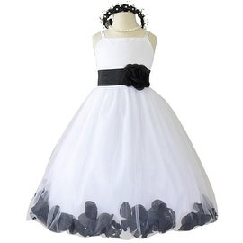 Flower Girl Dresses Rose Petal Wallao White (Baby - 14) Black