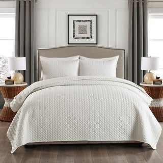 3-piece Fashionable Solid Embossed Quilt Set Bedspread Cover