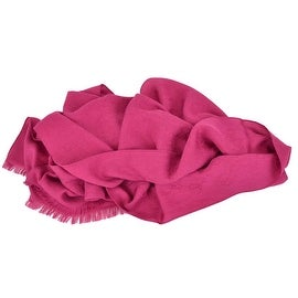 New GUCCI 165904 Magenta Pink Wool Silk GG Guccissima Monogram Logo Scarf
