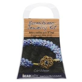 BeadSmith Kumihimo Bracelet Jewelry Kit, Do It Yourself, Caribbean