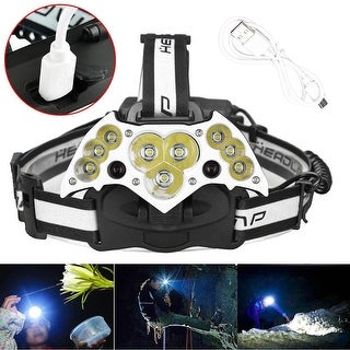 200000LM 11LED USB Chargeable Headlight Headlamp