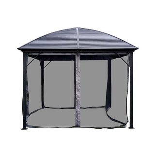 ALEKO Steel Hardtop Gazebo with Mosquito Net 10 x 10 Feet Black