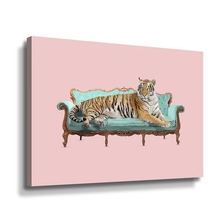 ArtWall Lazy Tiger Gallery Wrapped Canvas