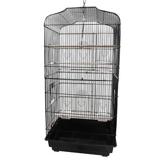 """37"""" Bird Parrot Cage Bird Cage with Wood Perches & Food Cups"""