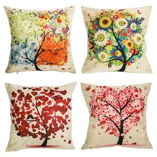 Under the Tree 18 Inch Decorative Throw Pillow Covers (set of 4)