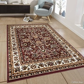"Allstar Burgundy Woven High Quality Rug. Traditional. Persian. Flower. Western. Design Area Rug (7' 7"" x 10' 6"")"