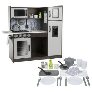 Chef's Play Kitchen & Bonus Accessory Set - Charcoal