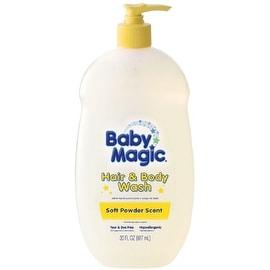 Baby Magic Gentle Hair & Body Wash, Soft Powder Scent 30 oz