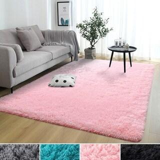 Lochas Anti-Skid Large Shaggy Fur Area Rug For Living Room