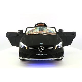 Mercedes CLA45 12V Kids Ride-On Car with R/C Parental Remote Matt Black