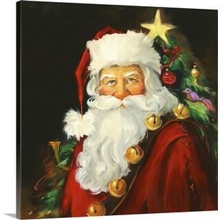 """Santa Portrait"" Canvas Wall Art"