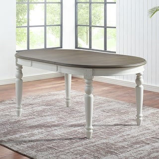 The Gray Barn Gustine Two-tone Oval Dining Table