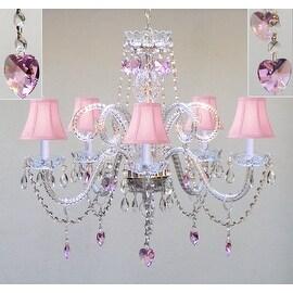 Swarovski Crystal Trimmed Chandelier Lighting Pink Crystal Chandelier Lighting