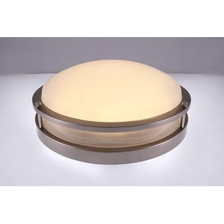 3000K Dimmable LED Flush Mount Ceiling Light, Satin Nickel Finish