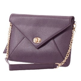 Sorial Gramercy Vegan Envelope Clutch in Eggplant