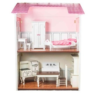 2 Story Wood Folding Doll Town House Fits 18 in American Girl Dolls & Furniture