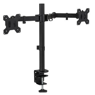 Mount-It! Dual Monitor Mount Double Monitor Desk Stand Two Heavy Duty Full Motion Adjustable Arms