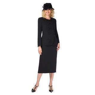 Giovanna Signature 2pc Double Breasted Suit w/ Layered Peplum Jkt