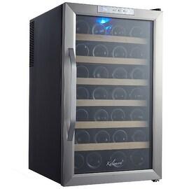 Kalamera KR-28ASS 28 Bottle Stainless Steel Freestanding Wine Cooler Refrigerator