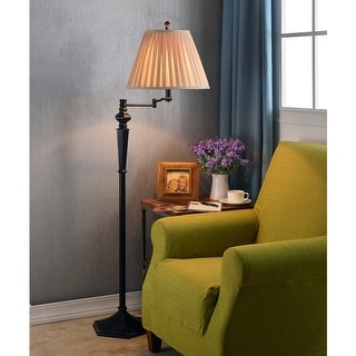 Custer 60-inch Swing Arm Floor Lamp - Oil Rubbed Bronze