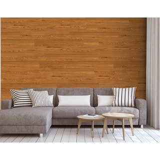 """Luxury Vinyl Wood Grain Sticker for Wall and Floor Use, 36""""x6""""/pc"""