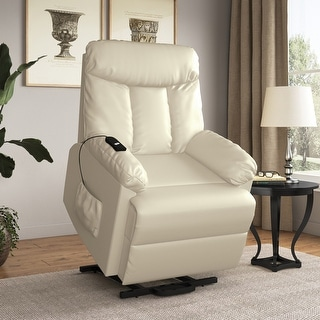 Copper Grove Off-White Power Lift and Recline Chair