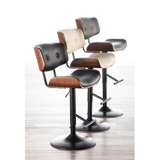 Carson Carrington Leksand Mid-Century Modern Adjustable Bar Stool