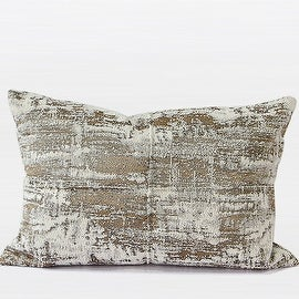 "Gentille Home Collection Luxury Light Gold Mix Color Metallic Chenille Pillow 14""X20"""