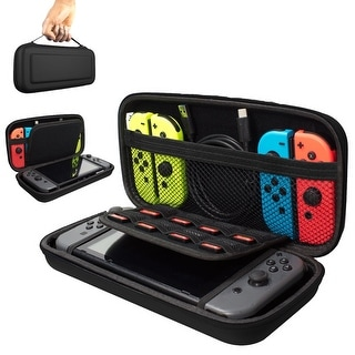 Nintendo Switch Carrying Storage Case, Protective Hard Case with handle, Holds 20 Games, Controller & Accessories