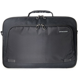 """Tucano Forte Eco Friendly Double Compartment Laptop Briefcase Bag with Padded Shoulder Strap for Laptops up to 15.6"""""""