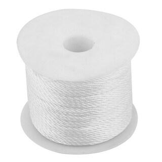 Festival Ornament Nylon Chinese Knot Braided Bracelet Cord String White 39 Yards