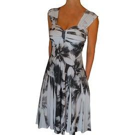 Funfash Plus Size Dress Black White Empire Waist Slimming Cocktail Dress