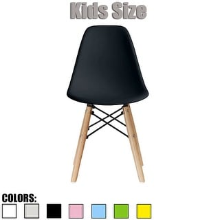 2xhome Kids Chair Side No arm Armless Natural Wood Legs Eiffel For Kitchen Desk Work Bedroom Playroom Preschool