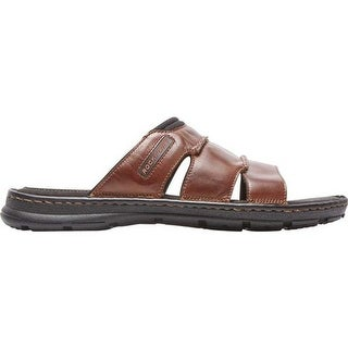 Rockport Men's Darwyn Slide Coach Brown Leather