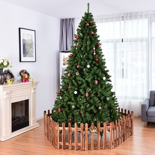 Costway 6FT/7.5FT/9FT PVC Artificial Christmas Tree 1000/1346 /2132