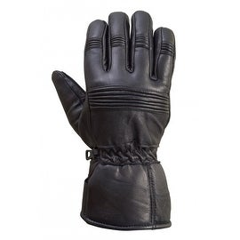 Motorcycle Biker Riding Premium Sheep Leather Winter Gloves Black G7